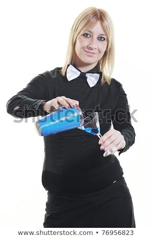 female bartender isolated on white stock photo © dotshock