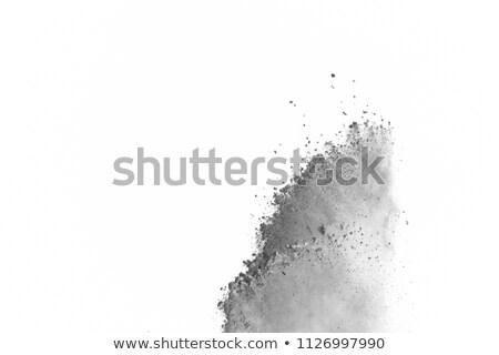 Wybuchu szary proszek dymu streszczenie świetle Zdjęcia stock © NeonShot