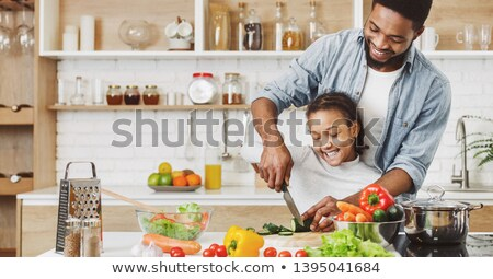 Schoolgirl Black cooking Stock photo © toyotoyo