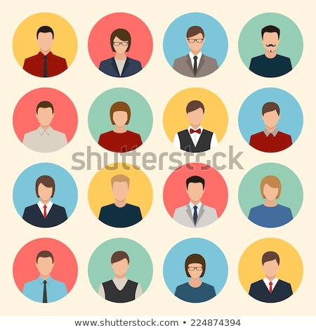 Users business people, men and women avatar flat  icons vector i Stock photo © NikoDzhi
