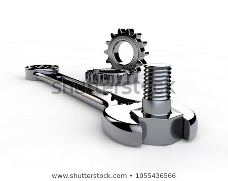 Equipment Maintenance - Mechanism of Metallic Cog Gears. 3D. Stock photo © tashatuvango