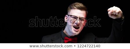 retrato · sorridente · homem · professor · olhando · animado - foto stock © traimak