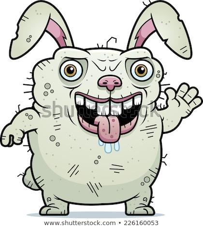 Lelijk bunny cartoon illustratie konijn Stockfoto © cthoman