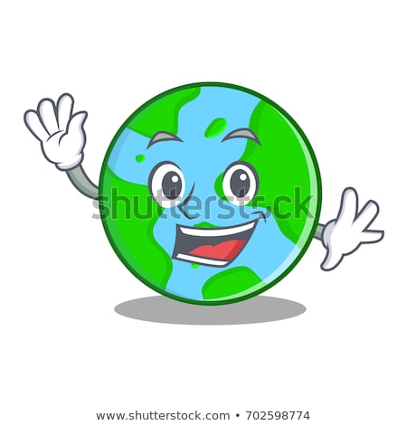 cartoon earth waving stock photo © cthoman