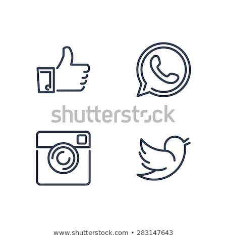 Interface ícones botão negócio mão Foto stock © AisberG