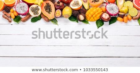 パイナップル マンゴー 龍 フルーツ 情熱 ココナッツ ストックフォト © artjazz