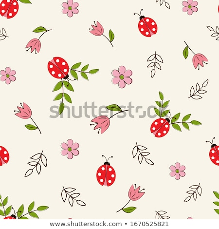 Seamless pattern of ladybug Stock photo © bluering