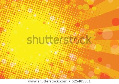 желтый огня Поп-арт ретро Vintage Сток-фото © studiostoks