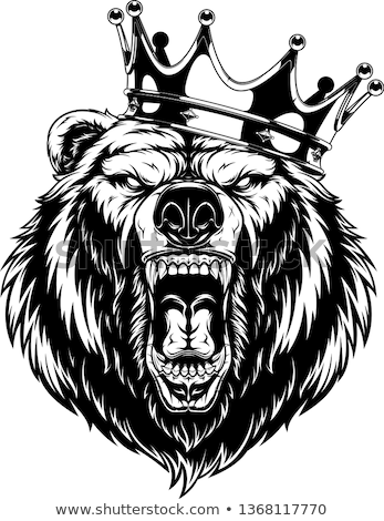 bear in crown mascot vector icon stock photo © morys