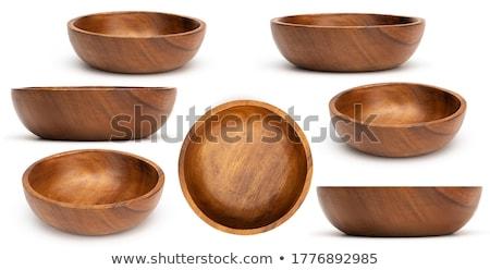 Pusty tradycyjny zestaw stołowe asia kręgle Zdjęcia stock © dash
