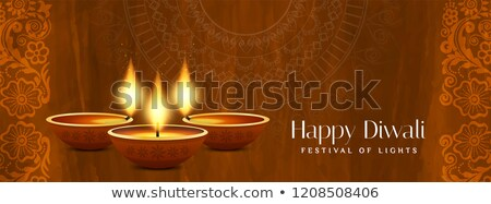 şık mutlu diwali satış afiş dizayn Stok fotoğraf © SArts