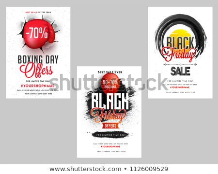 abstract torn paper style black friday sale background Stock photo © SArts