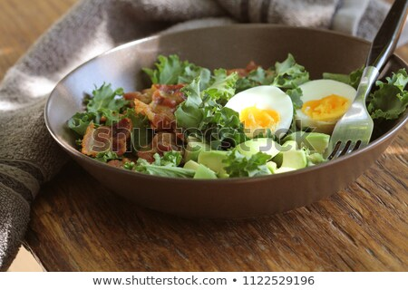 Vegan salada bacon ovo curativo Foto stock © Virgin