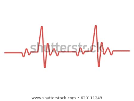 Heart beat red background Stock photo © alexaldo