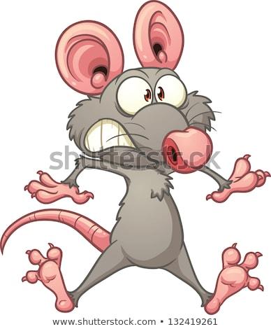 Paura cartoon mouse illustrazione guardando grafica Foto d'archivio © cthoman