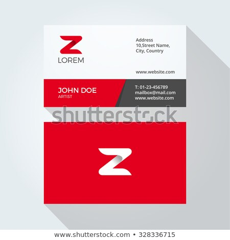 3d red vector logo letter z sign icon stock photo © blaskorizov