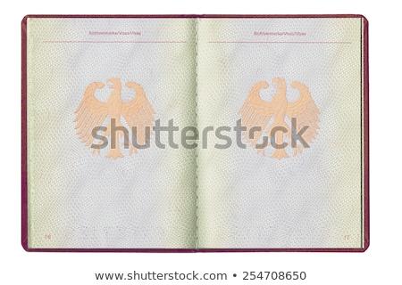 Stockfoto: Binnenkant · paspoort · illustratie · achtergrond · kunst · reizen