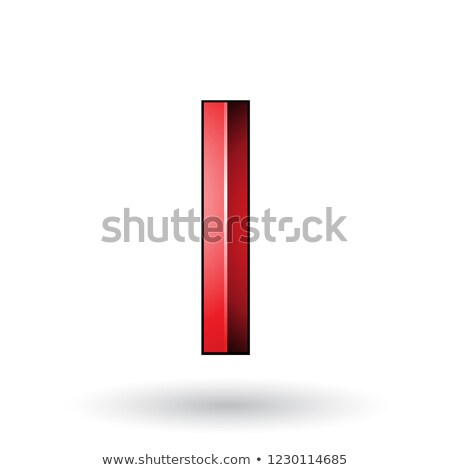 Red Glossy Embossed Letter I with a Dark Stroke Vector Illustrat Stock photo © cidepix