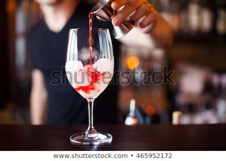 Adam içme alkol votka gece Stok fotoğraf © dolgachov