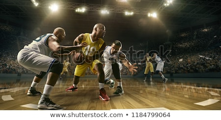Professional basketball players on court Stock photo © jossdiim