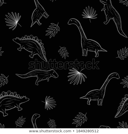 Parasaurolophus lineart Stock photo © watcartoon