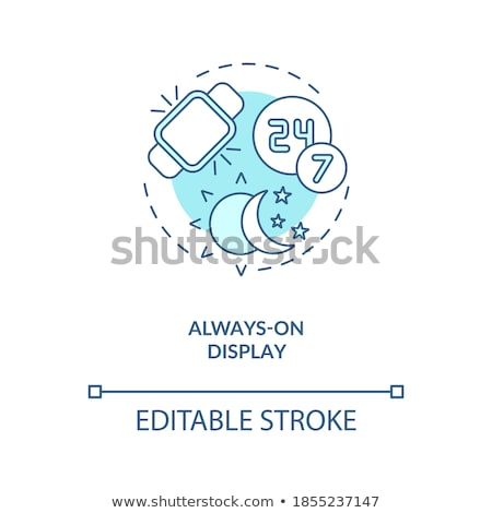 Wristwatch with Display Steps Vector Illustration Stock photo © robuart