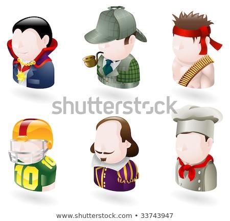 Shakespeare Man Avatar People Icon Stock photo © Krisdog