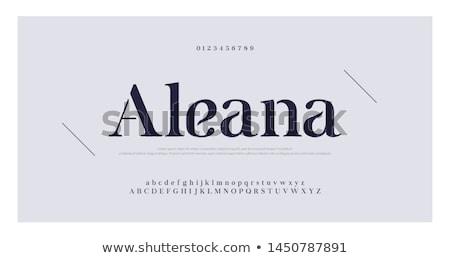 a font letter abc icon vector Stock photo © blaskorizov