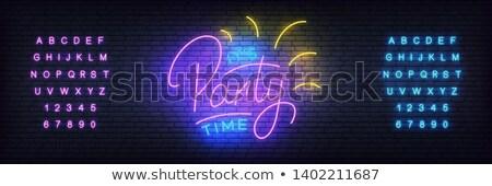 暗い 黄色 紫色 手紙 ロゴ アイコン ストックフォト © blaskorizov