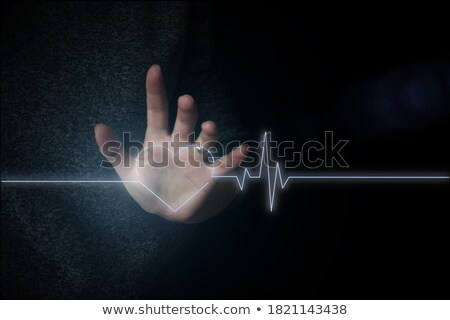 Doctor touching an icon on a futuristic interface - Stroke Stock photo © Zerbor