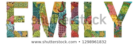 female name emily vector decorative zentangle object stock photo © natalia_1947