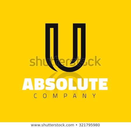 yellow letter u vector icon element sign Stock photo © blaskorizov