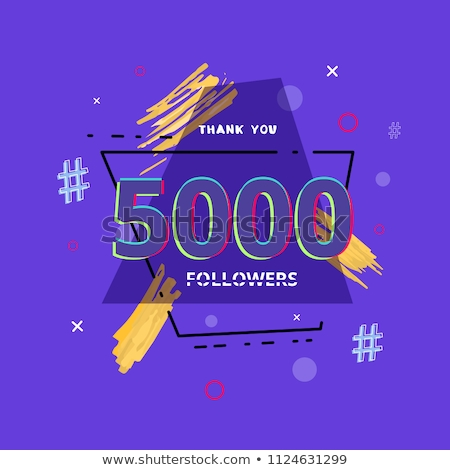 5000 followers banner - modern flat design style illustration Stock photo © Decorwithme