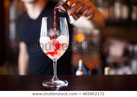 Stockfoto: Man · drinken · alcohol · wodka · nacht