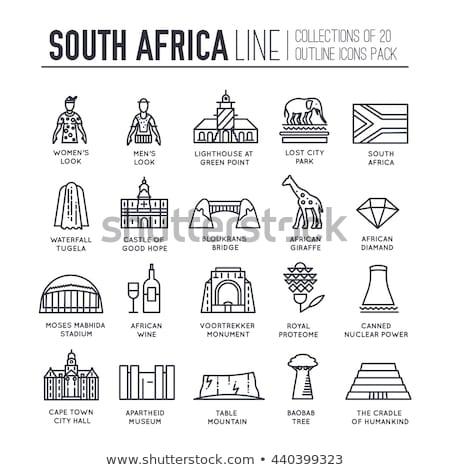 家 フラグ 南アフリカ 白 住宅 ストックフォト © MikhailMishchenko