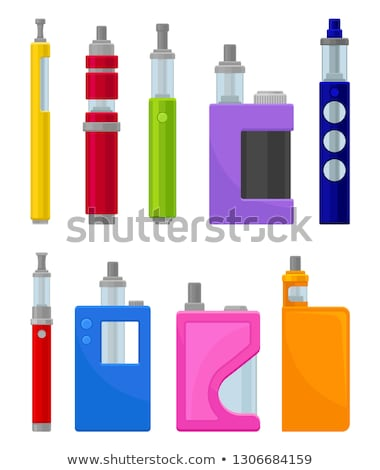Vector set electronic cigarette vape pen Stock photo © netkov1