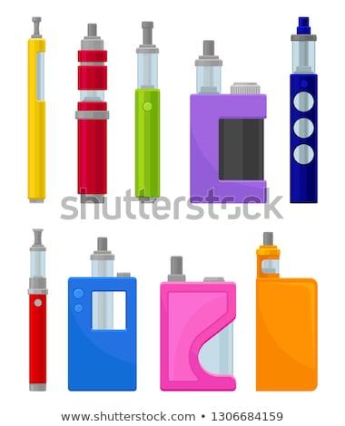 Vector set electronic cigarette vape pen Stock photo © netkov1