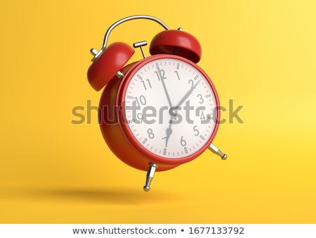 Alarm clock on white background. 3D rendering Stock photo © Nobilior