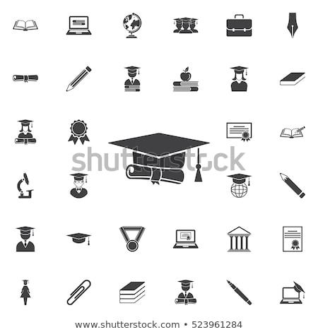 окончания церемония набор иллюстрация выпускник смысл Сток-фото © Blue_daemon