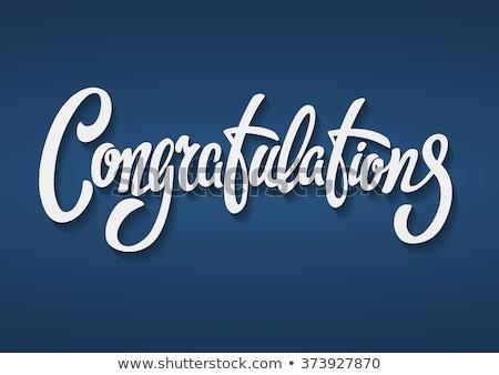 karty · szablon · gratulacje · słowo · ilustracja · papieru - zdjęcia stock © colematt