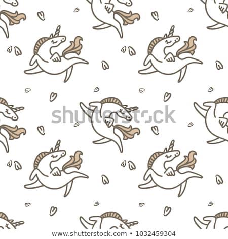 firka · gyűjtemény · aranyos · rajzok · gyerekek · állatok - stock fotó © bonnie_cocos