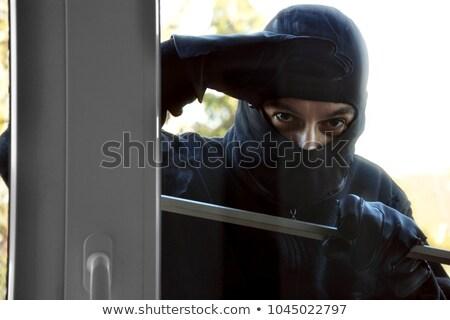вора · домой · стекла · двери · человека · безопасности - Сток-фото © andreypopov