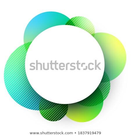 Green Glossy Shaded Circle Vector Illustration Stock photo © cidepix