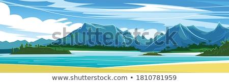 agência · de · viagens · bandeira · navio · de · cruzeiro · jornada · iate · oceano - foto stock © decorwithme