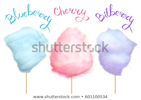 Cherry Bilberry and Blueberry Cotton Candy Vector Stock photo © robuart
