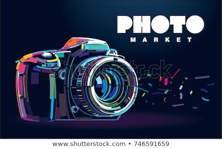 Fotografie Kamera Zeichen Symbol Vektor Kunst Stock foto © vector1st