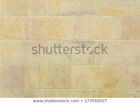ストックフォト: Texture Of Uneven Stone Block Wall