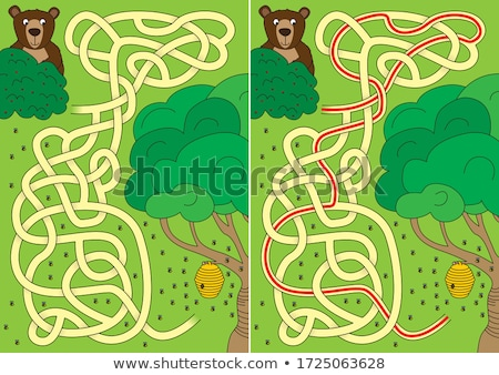 bees and beehive maze game stock photo © colematt
