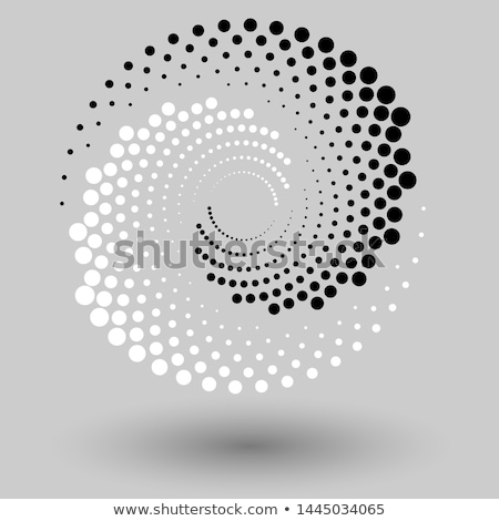 полутоновой Инь-Ян икона изолированный белый аннотация Сток-фото © kyryloff