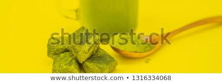 зеленый · чай · льда · каменщик · банку · соломы - Сток-фото © galitskaya
